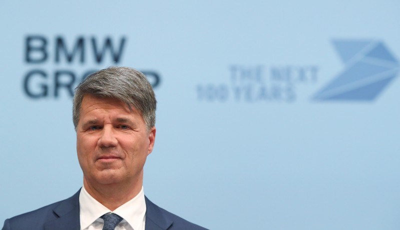Krueger, CEO of German luxury carmaker BMW, addresses the company's annual news conference in Munich