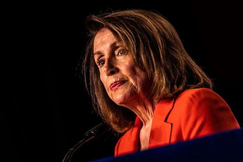 FILE PHOTO: House Speaker Nancy Pelosi (D-CA) addresses the North America's Building Trades Unions (NABTU) 2019 legislative conference in Washington