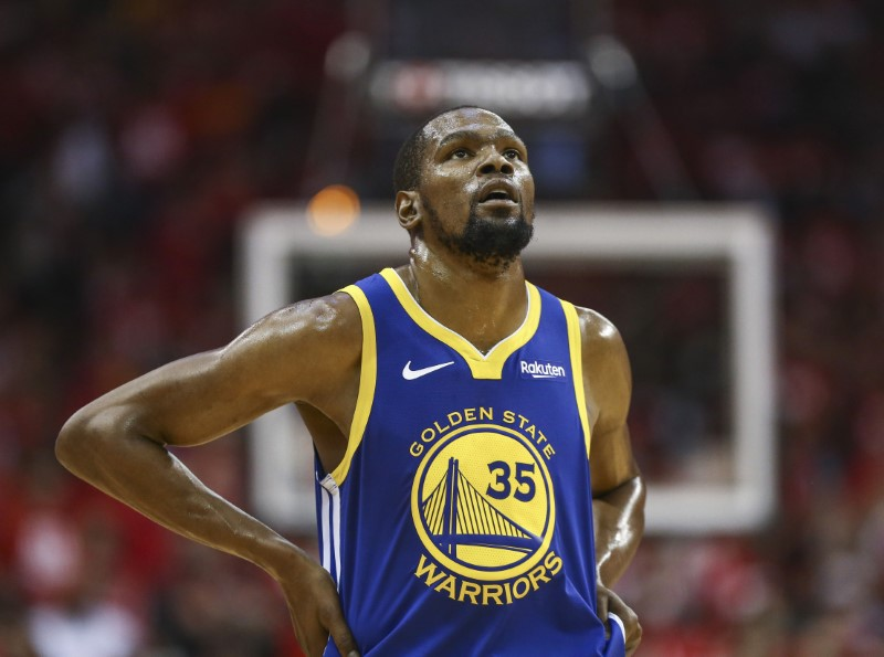 FILE PHOTO: NBA: Playoffs-Golden State Warriors at Houston Rockets