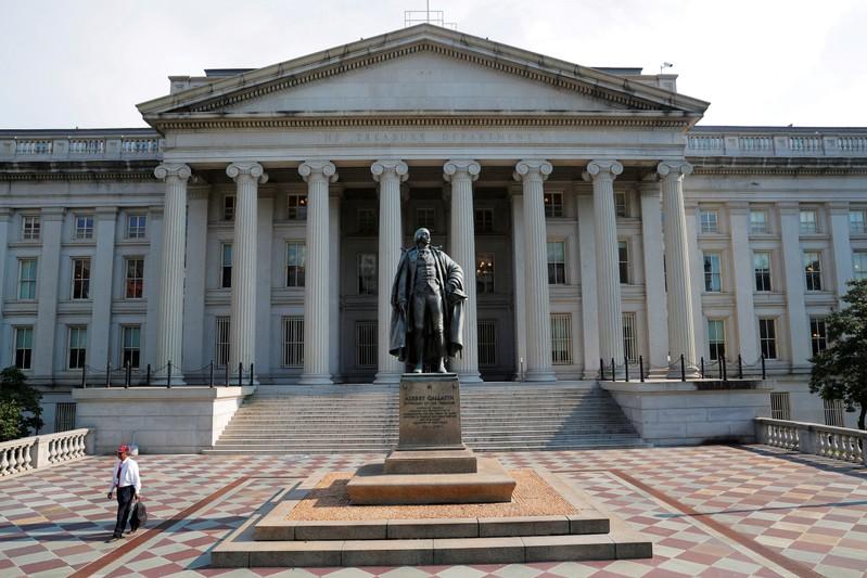 FILE PHOTO: The U.S. Treasury Department in Washington
