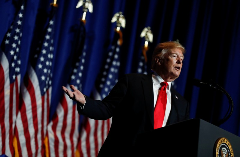 FILE PHOTO: U.S. President Trump speaks at the National Association of Realtors' Legislative Meetings & Trade Expo in Washington