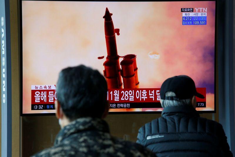 North Korea fires two projectiles off east coast into sea, South Korea says