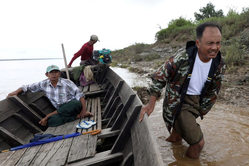 As Myanmar farmers lose their land, sand mining for Singapore is blamed