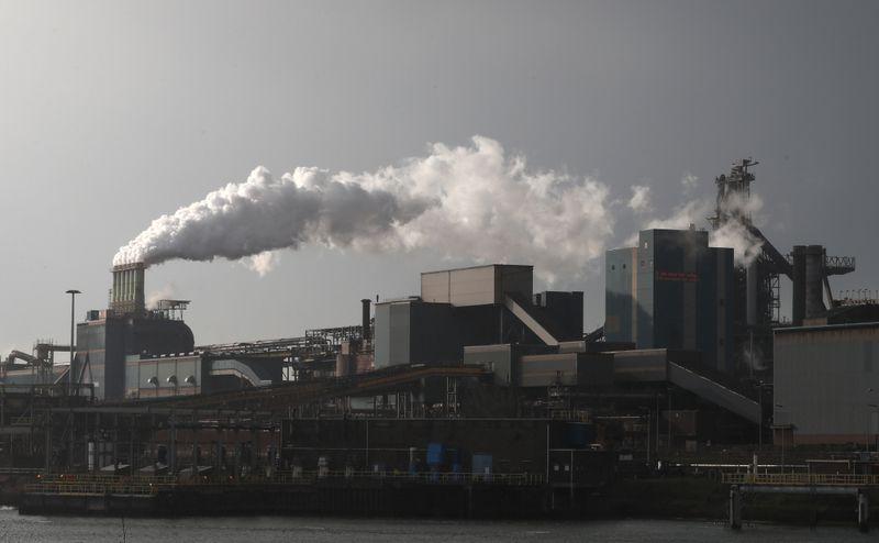 Striking workers block doors of Tata Steel plant in Netherlands