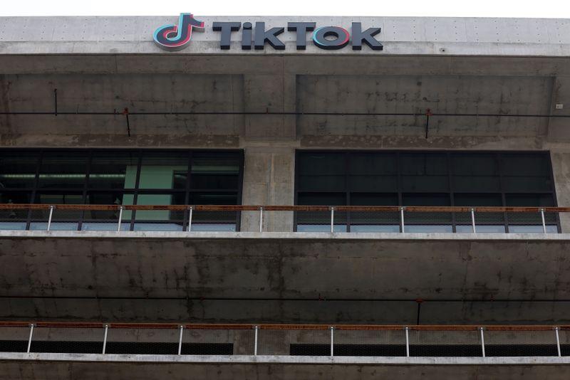 FILE PHOTO: TikTok head office in United States