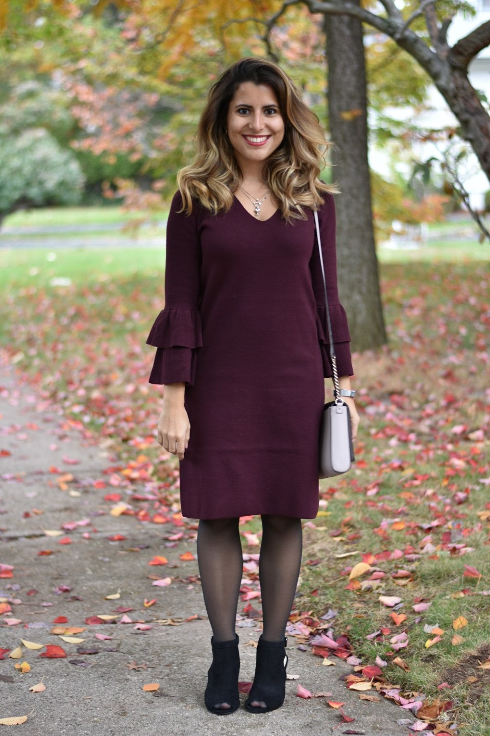 Thanksgiving Outfit Sweater Dress
