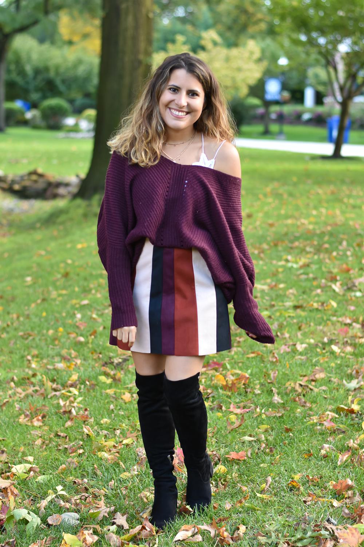 Colorblock Skirt