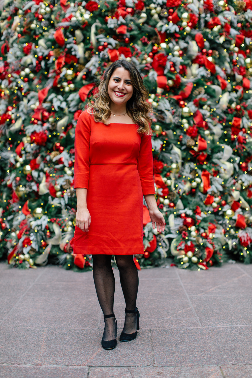 Classy Red Dress for the Holidays