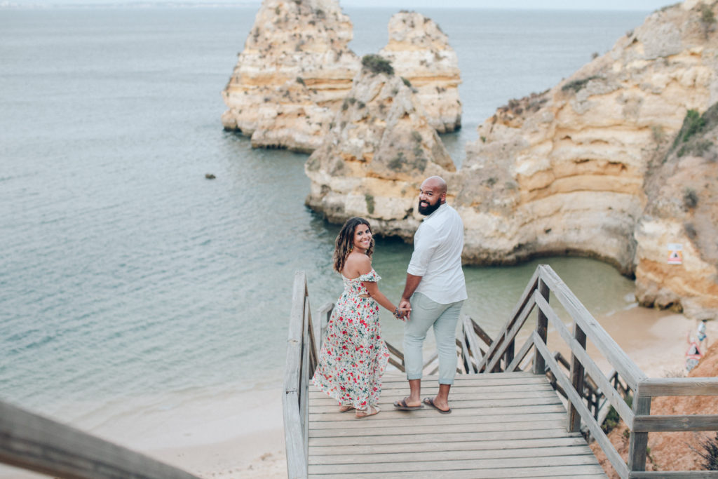 Beach Sunset Engagement Photos