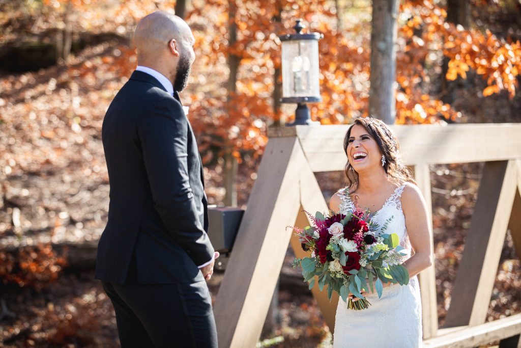 Bear Brook Valley Fall Wedding / First Look