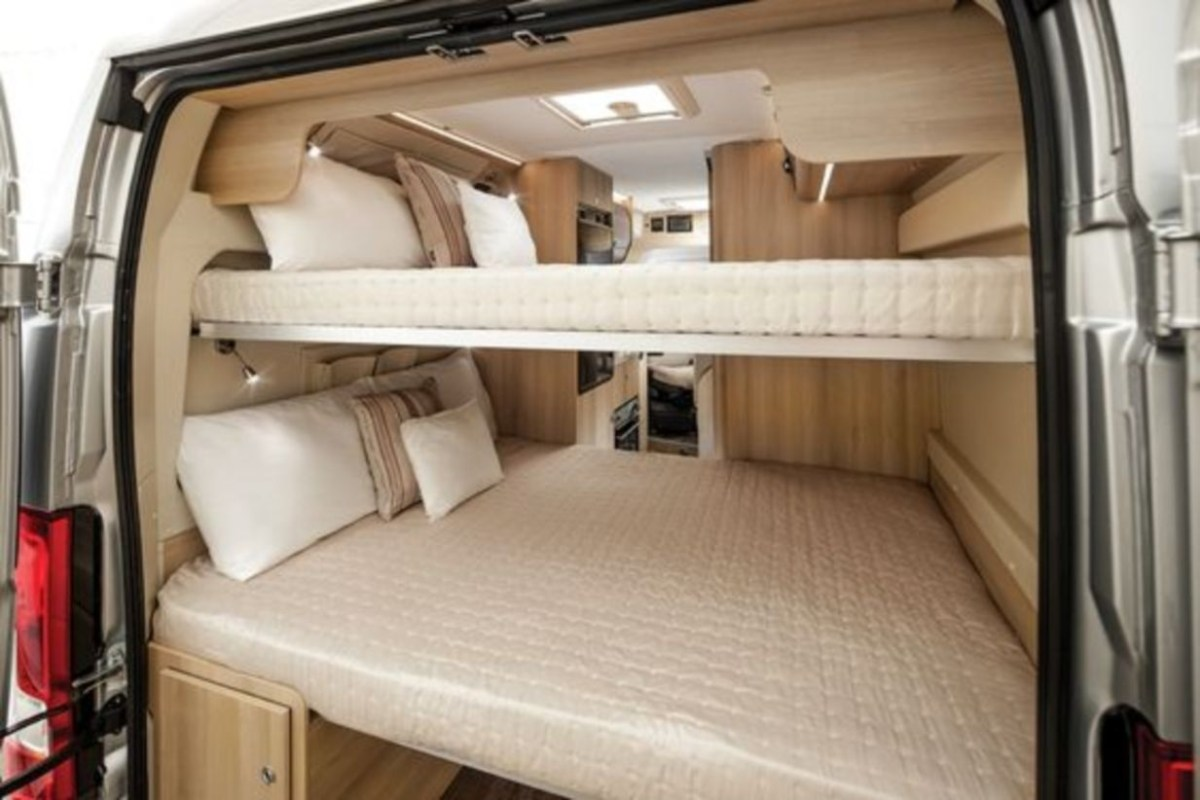 Campervan with double bunk beds more