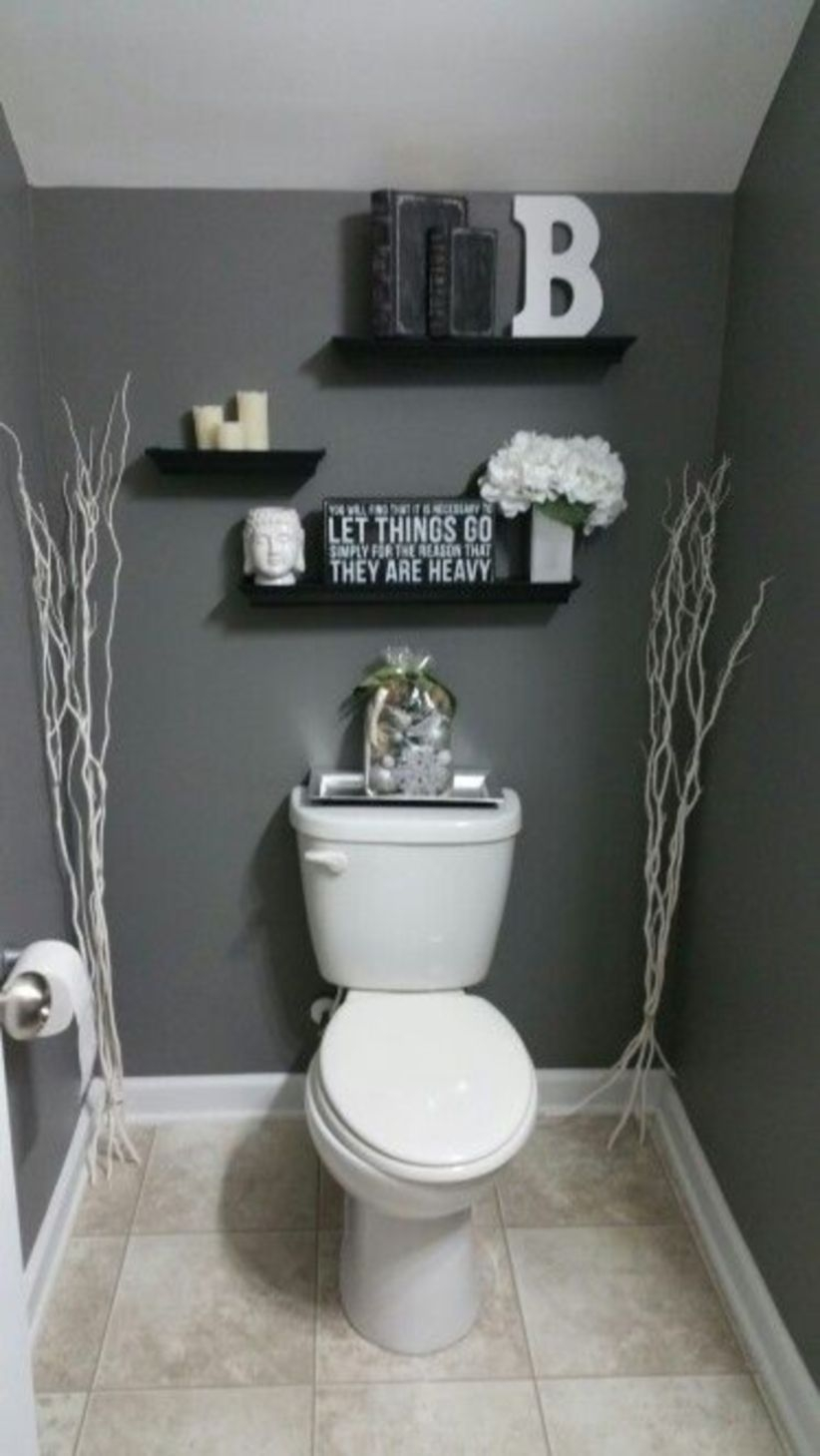Diy floating shelves ideas for bathroom decoration