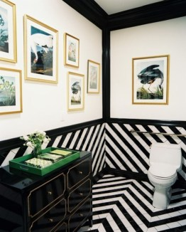 Elegant black herringbone tiles for your space 40