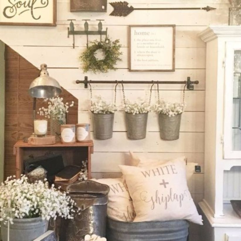 Rustic farmhouse decor easy vintage shabby chic home decor