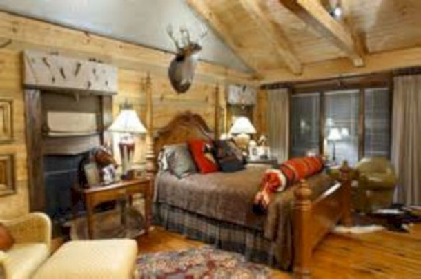 Creative log cabin themed bedroom for kids 01