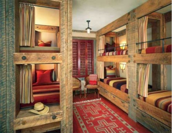 Creative log cabin themed bedroom for kids 21