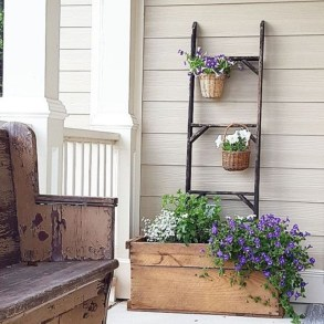 Gorgeous diy ladder-style herb garden 25