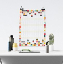 Modern wall calendars to get you organized for 2018 03