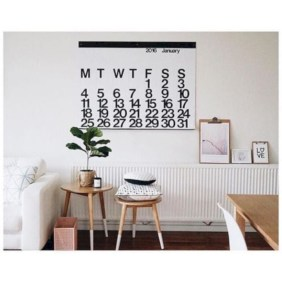 Modern wall calendars to get you organized for 2018 18