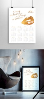 Modern wall calendars to get you organized for 2018 28