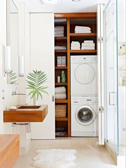 Beautiful and functional small laundry room design ideas 20