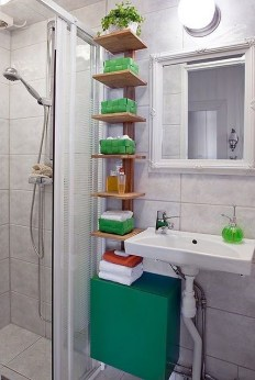 Built-in bathroom shelf and storage ideas to keep your bathroom organized 40