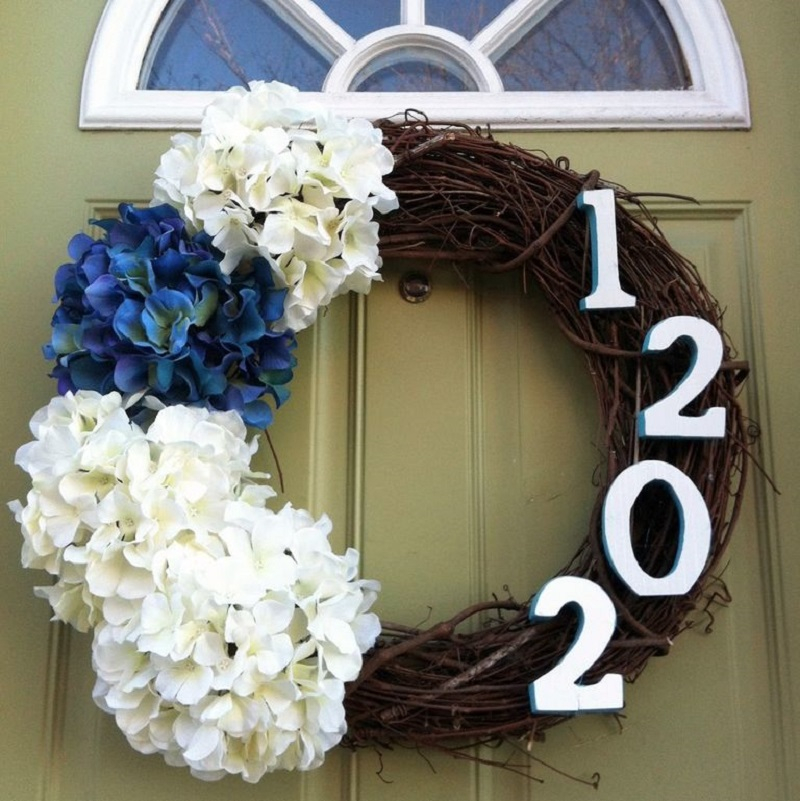 House number wreath