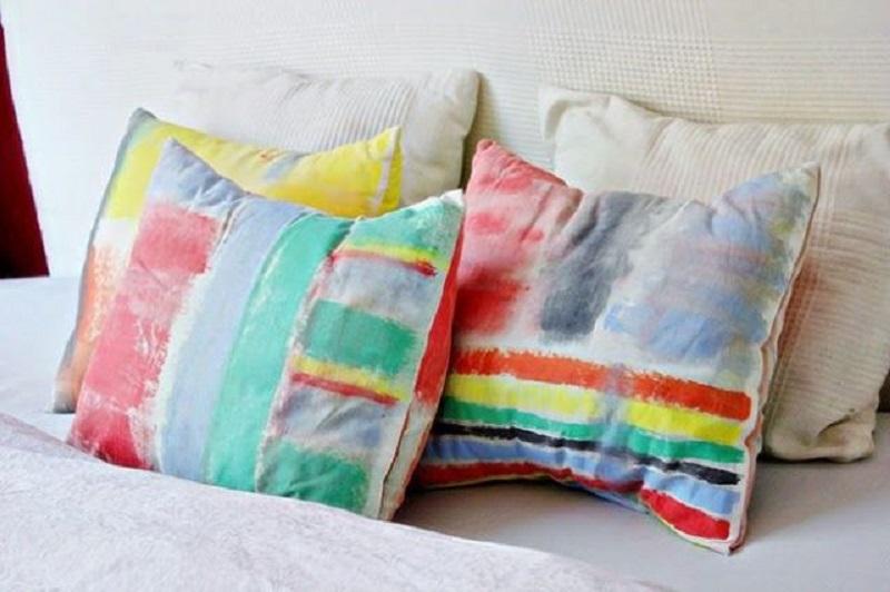 Artistic brushstroke cushion covers
