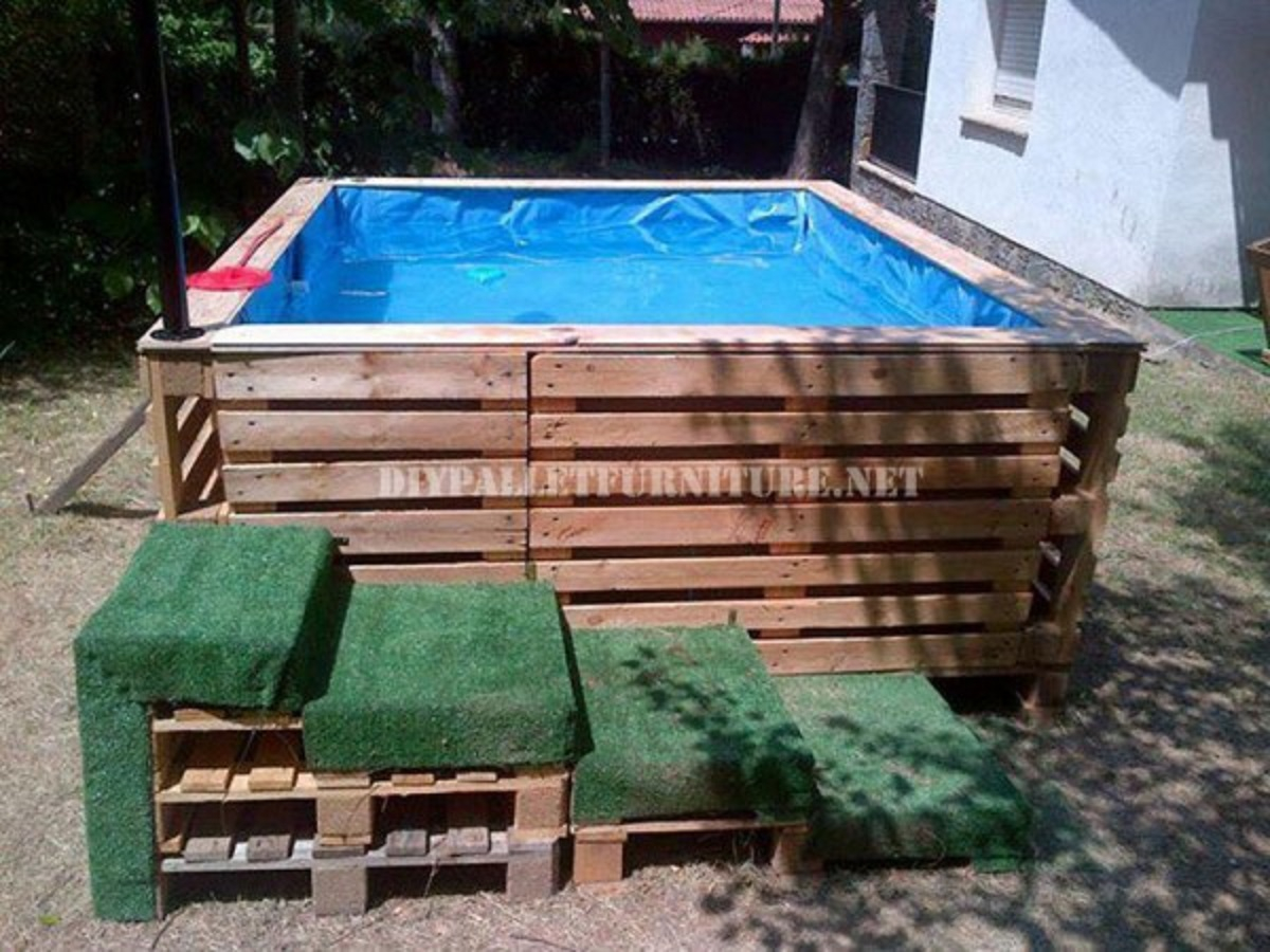 Pallets pool DIY Swimming Pool Ideas To Make Your Summer Better With Relax And Unwind
