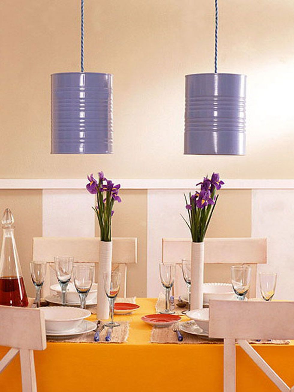 Tin can pendant light Undoubtedly Gorgeous DIY Pendant Light Fixtures From Upcycle Items