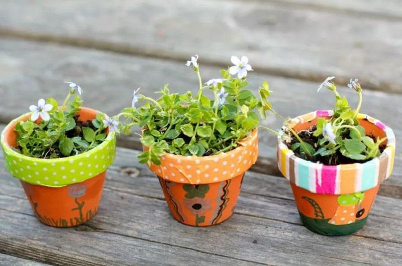 Artistic flowers pots