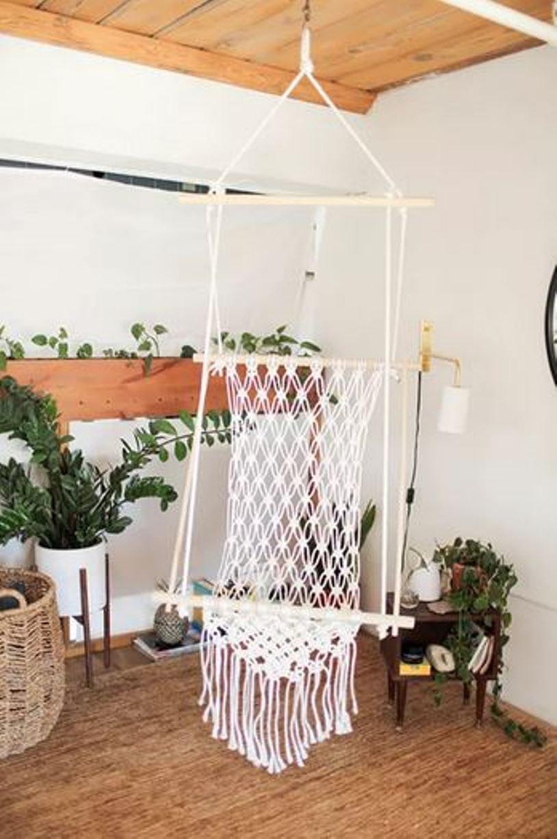 Boho look hanging chair