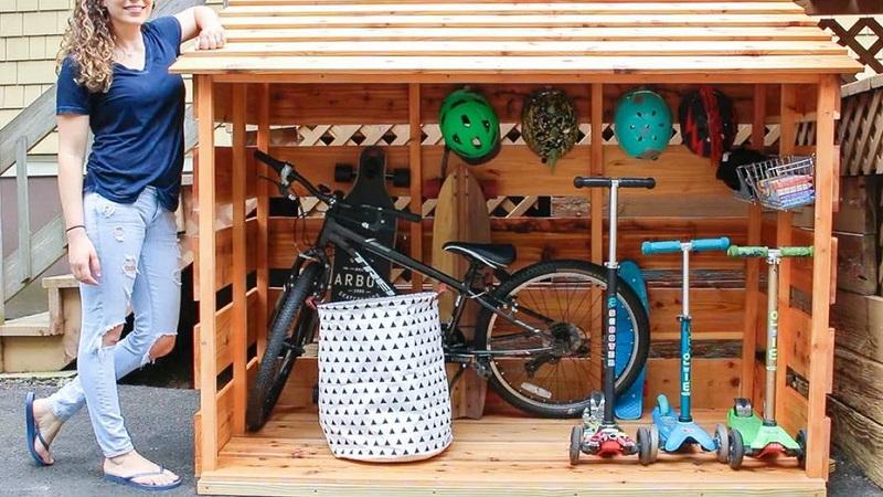 Cool diy bike storage