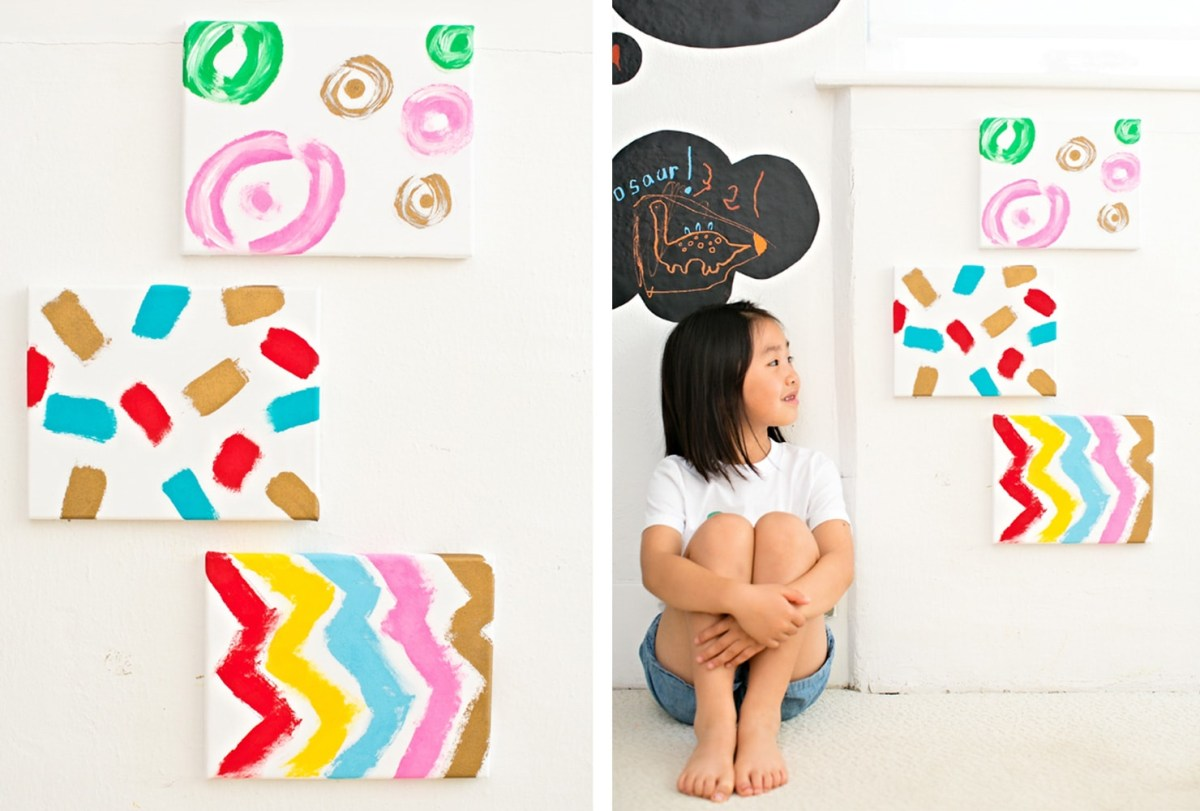 Diy kid canvas Trouble-Free DIY Canvas Wall Art Ideas To Decorate Your Home