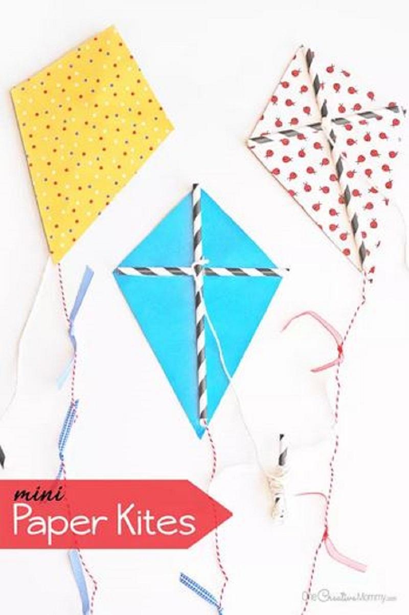 Diy mini paper kites