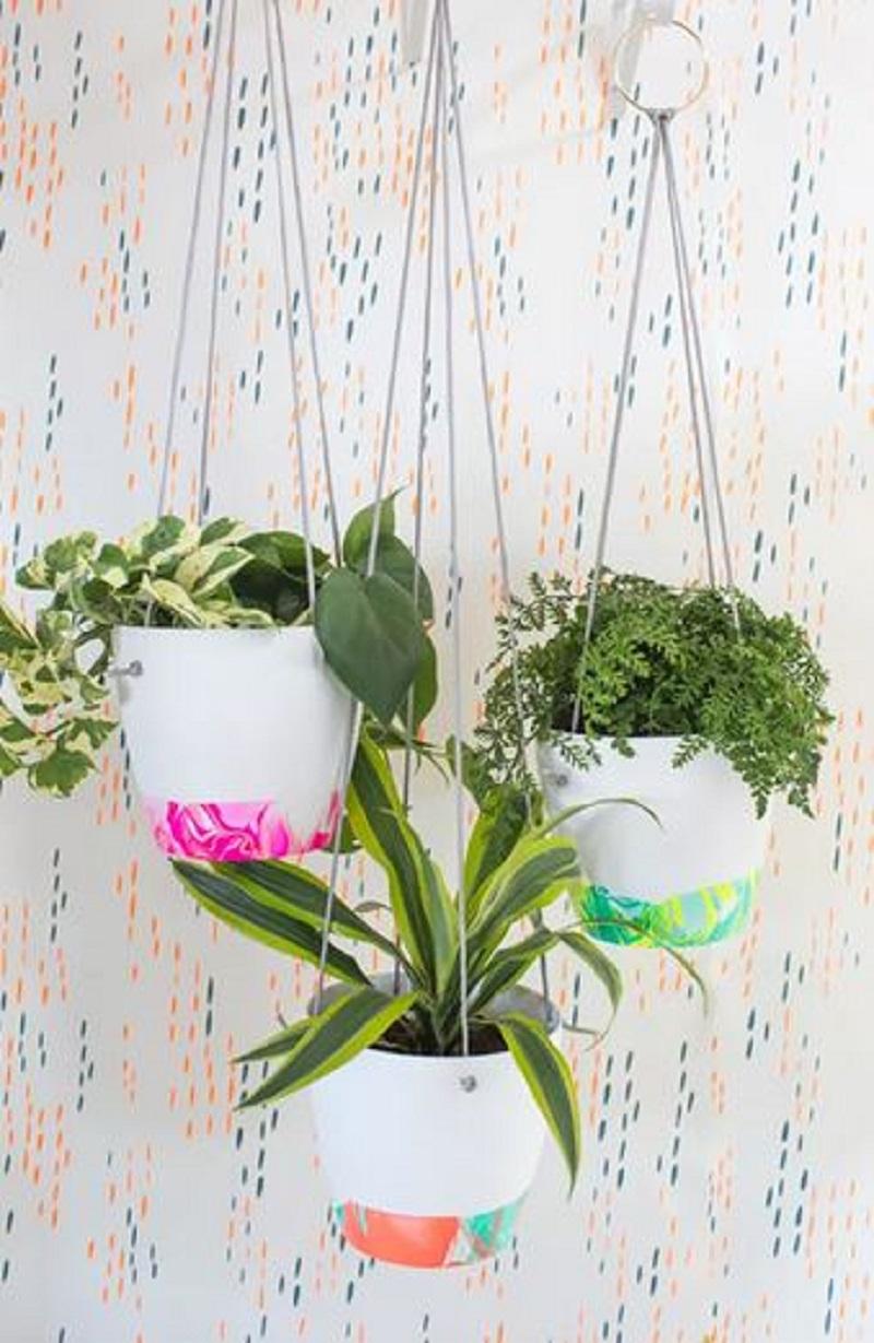 Marble flowers pots