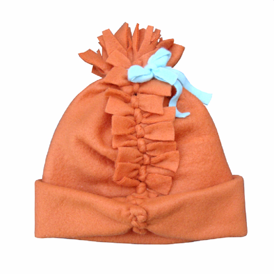 No-sew fleece hat for a child DIY Hat Ideas That Requires Almost No Sewing And Precise Cuts Skill