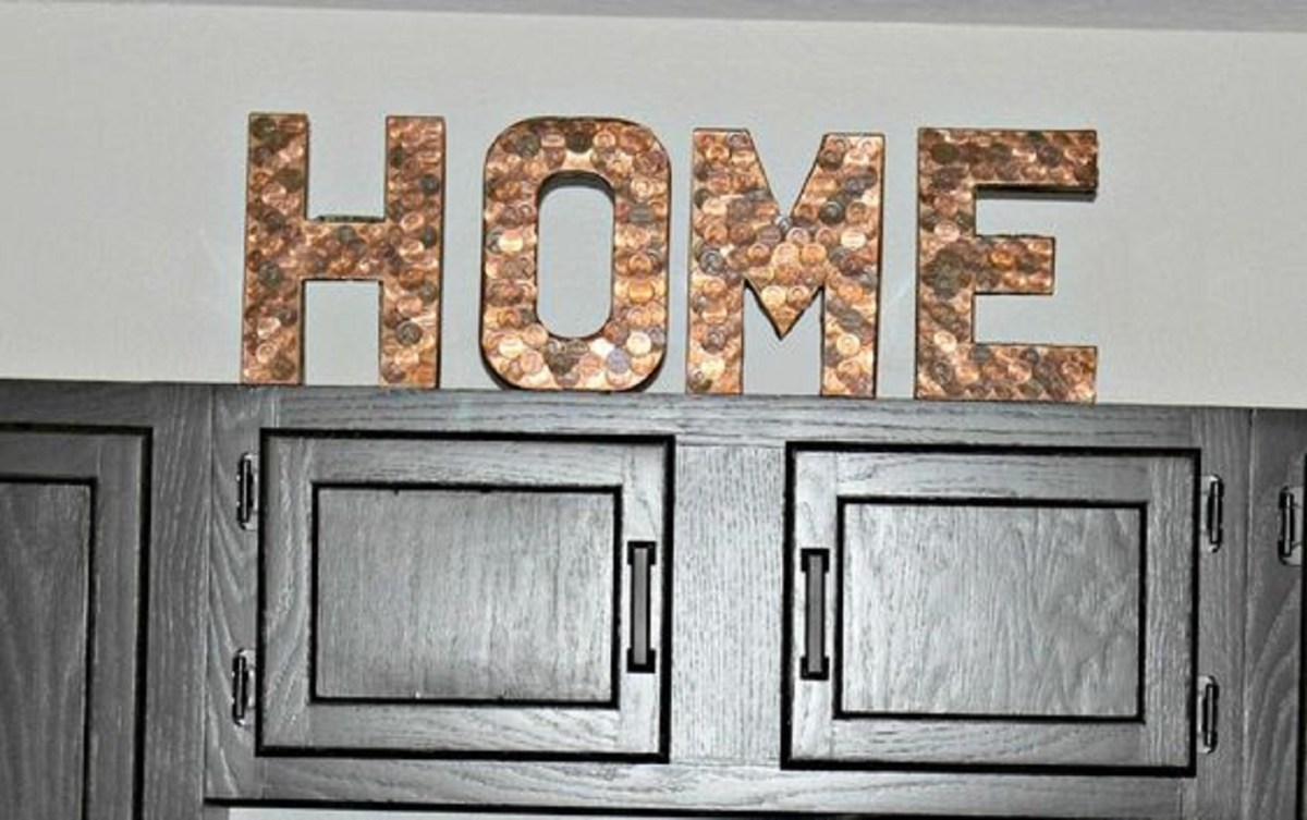Penny letters home decoration Remarkable DIY Decoration Ideas You Can Make At Home With Pennies