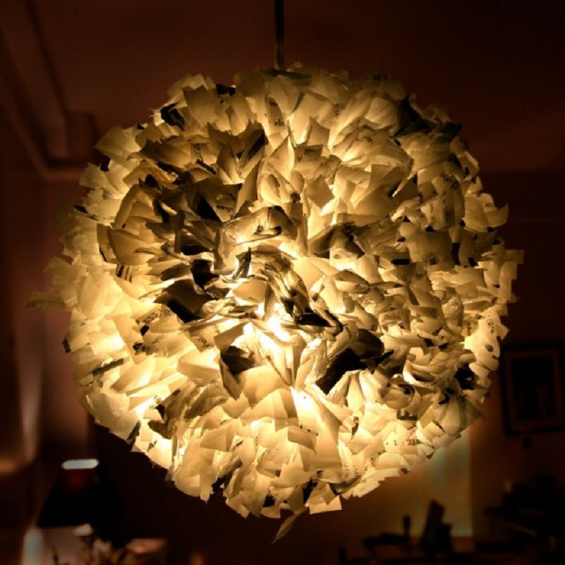 Plastic bag pendant light
