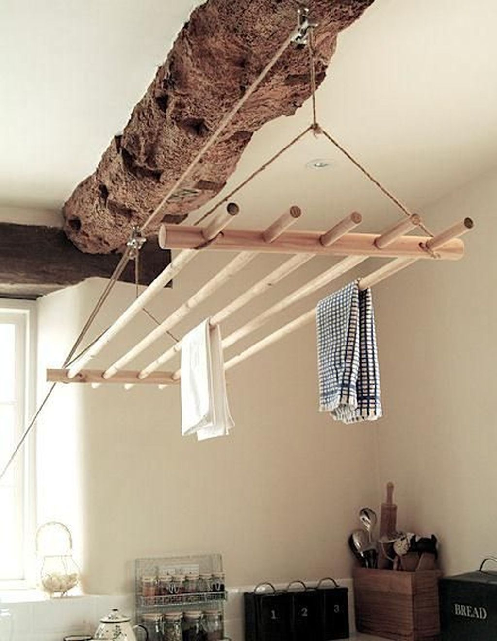 Simple drying rack DIY Saving Money Ideas Of Clothesline To Hang Dry Your Clothes