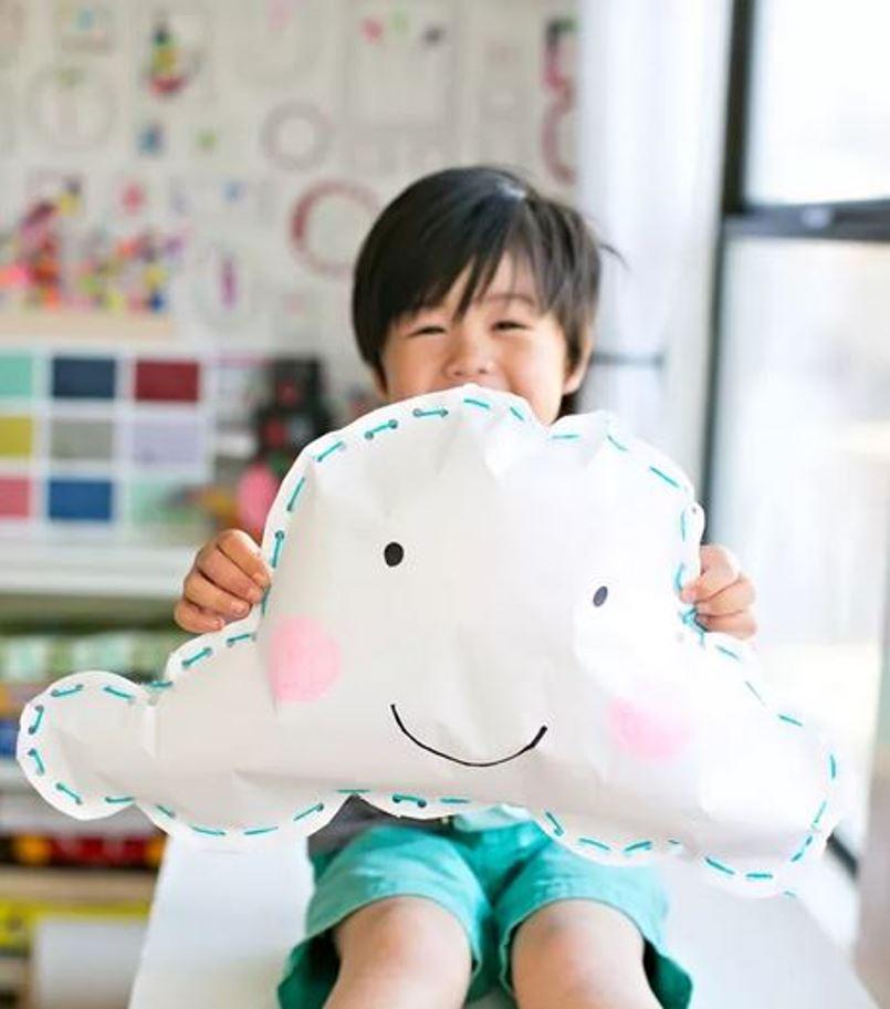 Smiling paper cloud