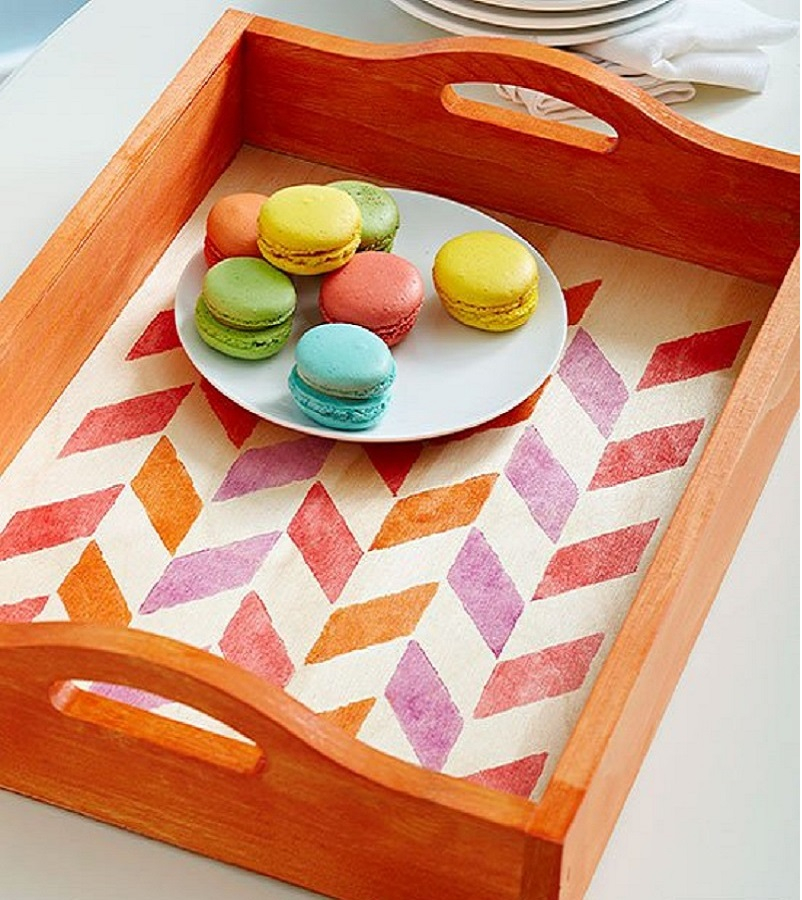 Stained server tray DIY Winsome Serving Trays To Show Your Stylish Detail