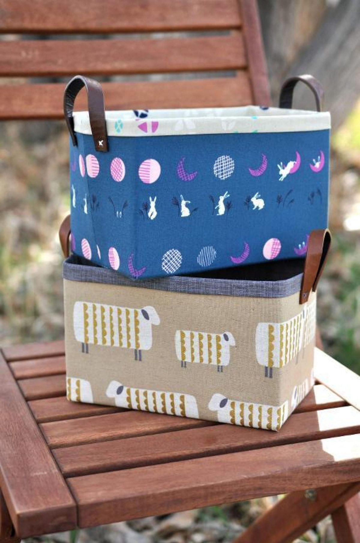 Sturdy fabric basket Effortless DIY Sewing Projects To Create A Beautiful Effect To Your Home