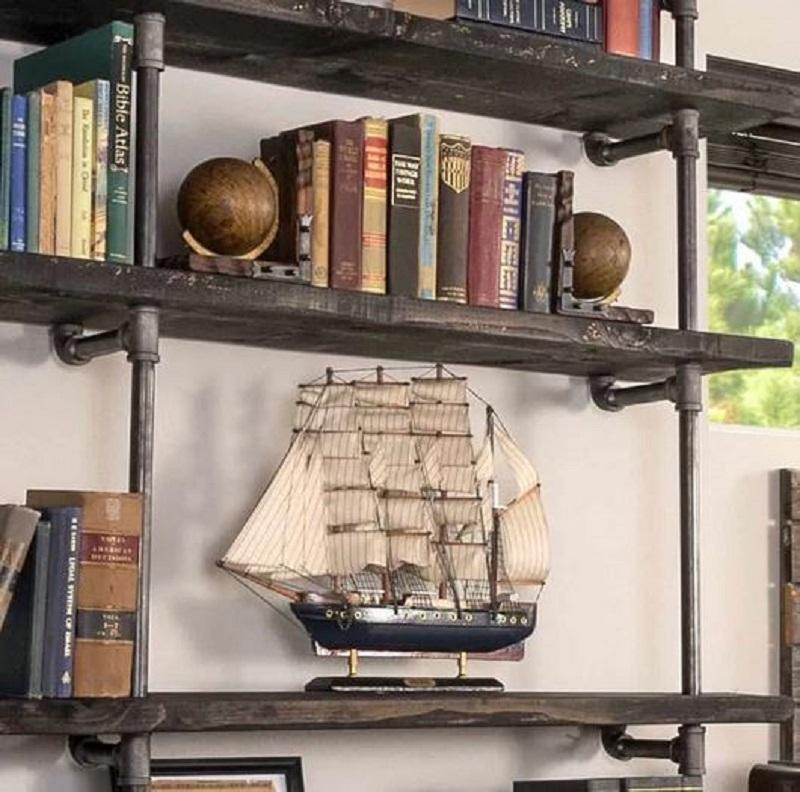 Well-built industrial shelves