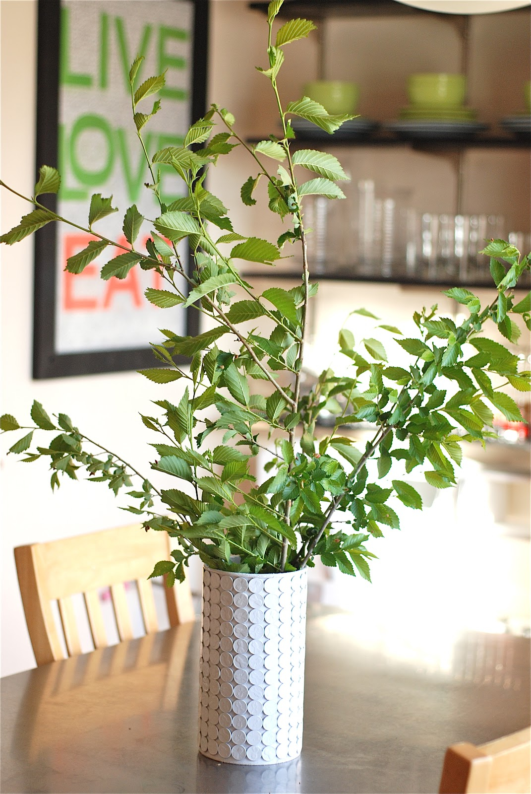 White penny vase Remarkable DIY Decoration Ideas You Can Make At Home With Pennies