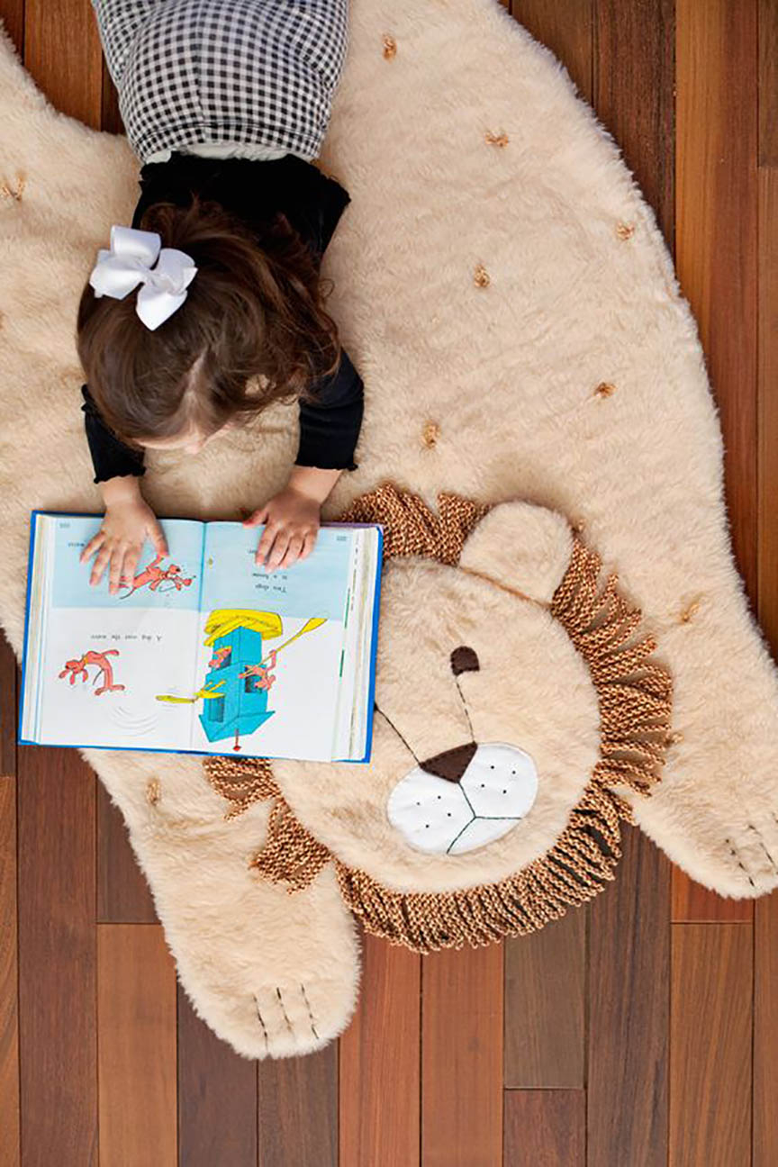 Diy plush animal mat DIY Entertaining Ideas To Decorate Your Kids' Room For Special Feeling