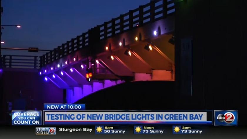 multi color lighting system installed