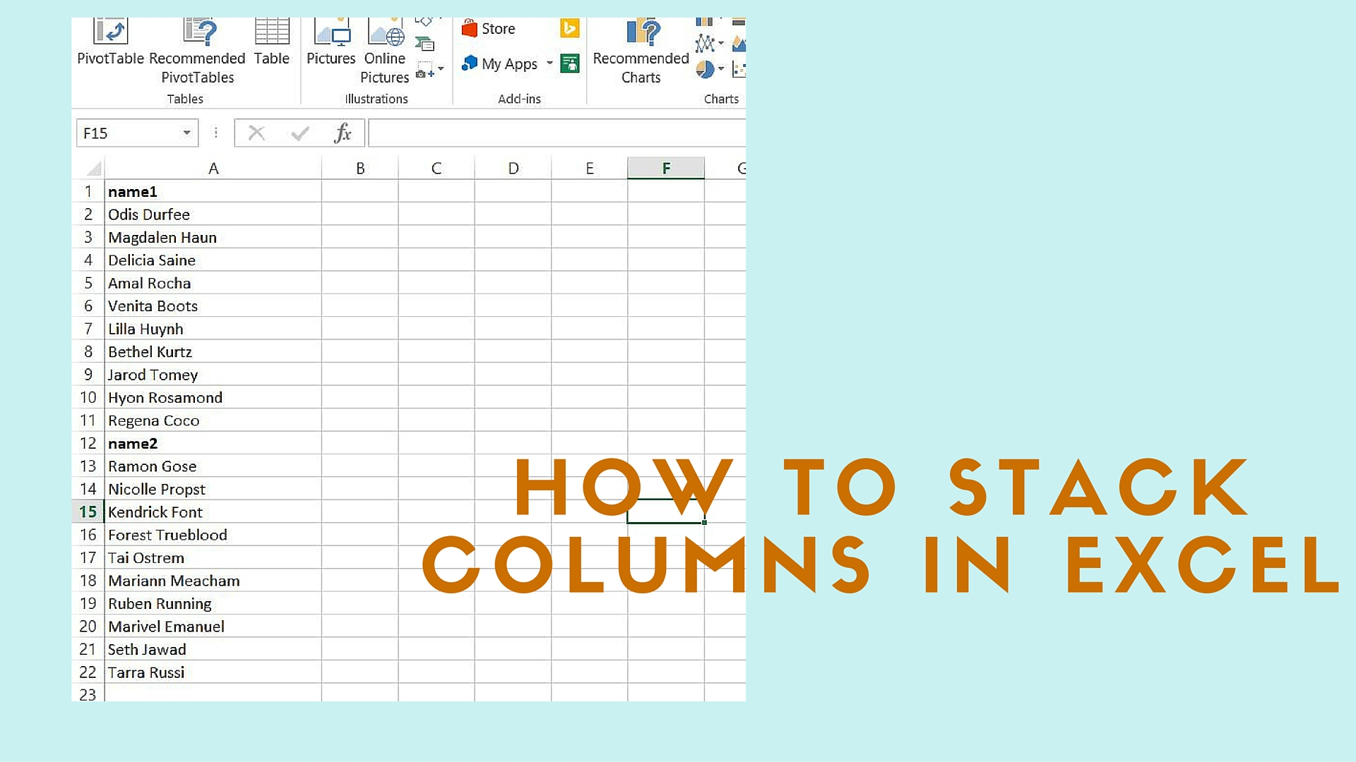 Excel Paste Multiple Columns Into One