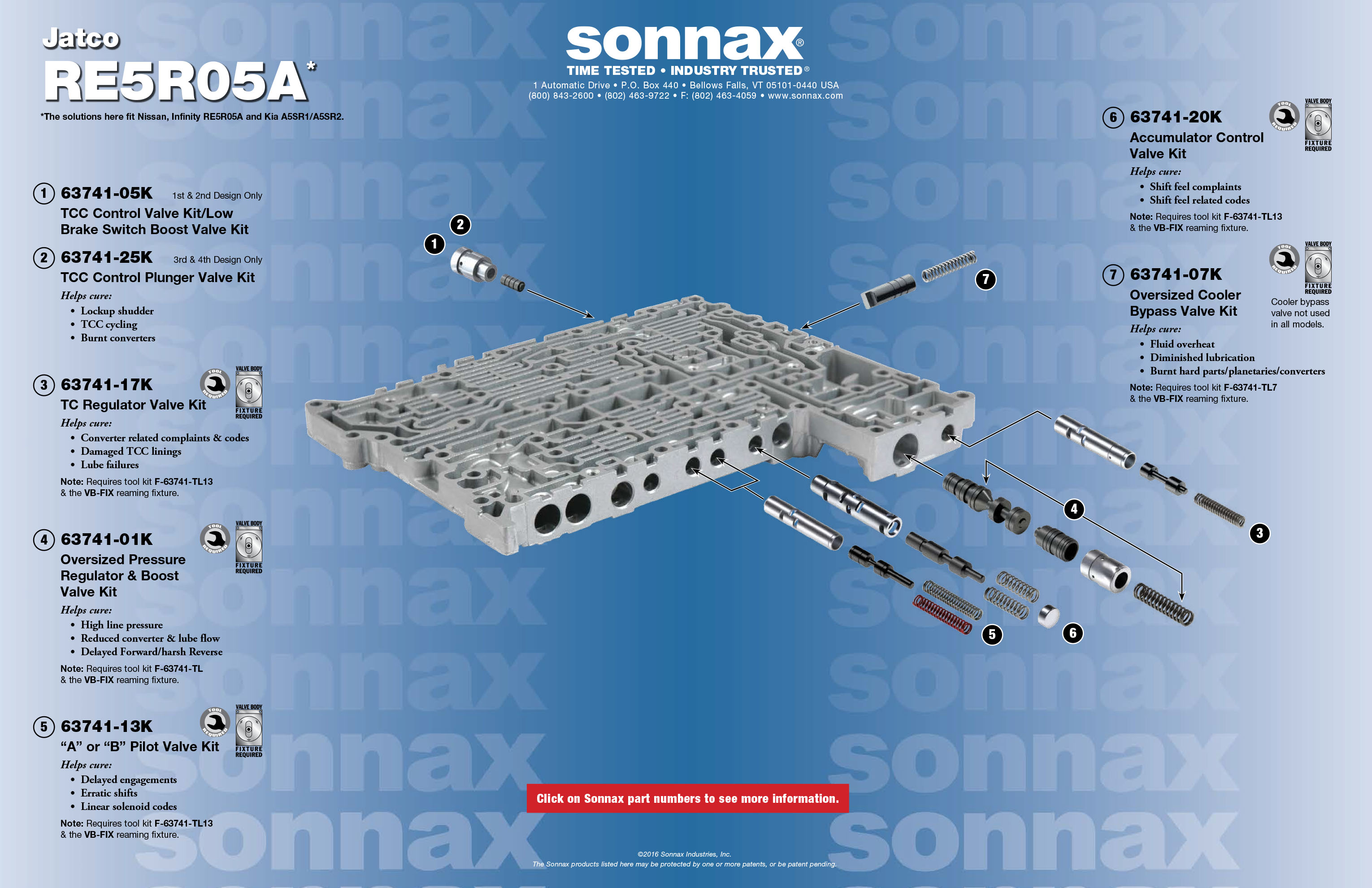 Valve Body Layouts | Sonnax