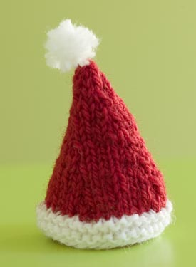 Santa hat free #knitting pattern by Knit Picks